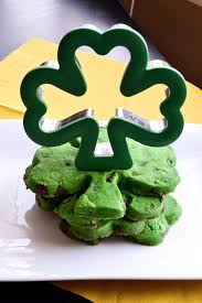 chocolate chip four leaf clover cut out cookies she bakes here