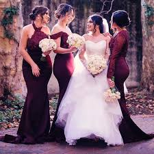 burgundy dress for wedding aliexpress buy burgundy country bridesmaid dresses for