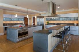 Kitchen Island Contemporary - contemporary kitchen with kitchen island by houlihan lawrence