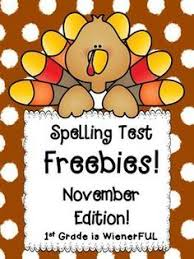 freebies september october spelling test templates freebie