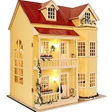 Free Miniature Dollhouse Plans Beginner by Amazon Com Fairfield Dollhouse Kit Toys U0026 Games