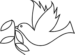 coloring charming simple dove drawing 3 coloring