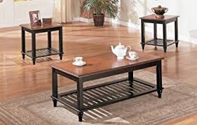 hton solid oak 120 160 3 pc set solid wood coffee table with 2 end tables