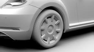 volkswagen beetle 2017 black vw beetle turbo 2017 3d cgtrader
