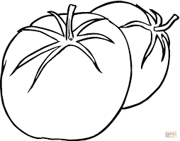 tomato cartoon character with open arms coloring page free