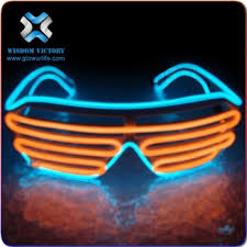 party sunglasses with lights led sunglasses best selling colorful neon light flashing el wire