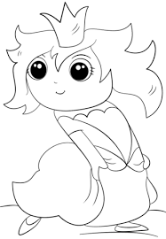 chibi princess coloring free printable coloring pages