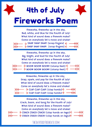 4th of july poem and movement activity for kids firework poems