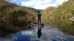 Tennessee lakes images Paddleboarders navigate little tennessee river finger lakes jpg