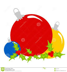 Holley Clipart Christmas Ornaments Pencil And In Color Holley