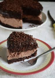 how to make eggless chocolate mousse sandwich cake video recipe