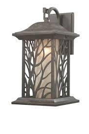 silverleaf 1 light 15 875 auburn bronze outdoor wall light at