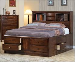 Twin Storage Bed Plans Bedroom Platform Storage Bed With Bookcase Headboard Raw Solid