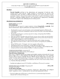 computer network specialist sample resume example information