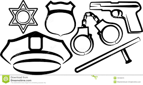 set of police items stock photos image 19133373