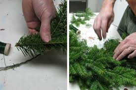 how to make a wreath from natural evergreen clippings