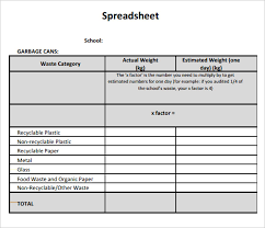 Free Spreadsheet Templates by Blank Spreadsheet Template 7 Documents For Pdf