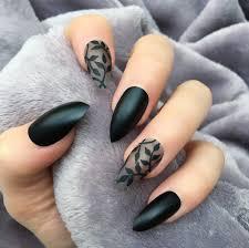 black matte dainty stiletto u2013 doobys nails