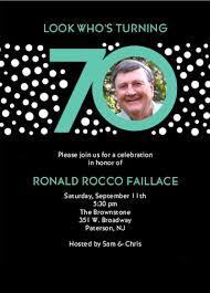 70th invitations birthday 70th birthday party invitations