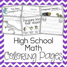 Coloring Pages High School Math By Amazing Mathematics Tpt Coloring Pages For High