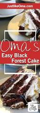 german black forest cherry cake made just like oma