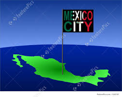 Mexico City Map by Mexico City On Mexican Map Stock Illustration I1443181 At Featurepics