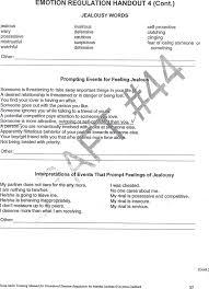 Ptsd Worksheets Healing From Bpd Borderline Personality Disorder Blog Jealousy