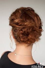 curly hair updos step by step curly hair tutorial easy twisted bun hairstyle hair romance