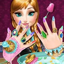 anna frozen nail polish game