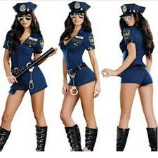 2017 new wholesale woman cop costumes officer uniform