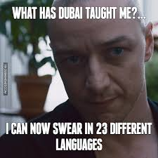 Different Meme - what has dubai taught me i can now swear in 23 different