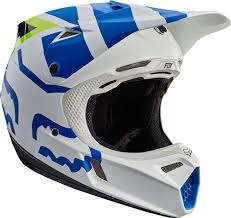 white motocross helmets 2017 fox racing v3 creo helmet motocross dirtbike offroad mens