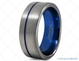 mens blue wedding bands mens tungsten ring blue 8mm men tungsten rings blue wedding bands