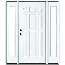Prehung Exterior Steel Doors Steves Sons 60 In X 80 In 9 Panel Primed White Right