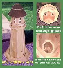 lighthouse outdoor garden yard lawn ornament cedar wood design