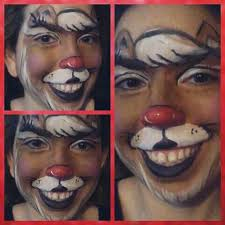 rudolph red nosed reindeer face paint 7 steps pictures