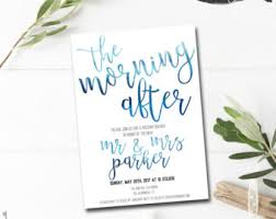 morning after wedding brunch invitations post wedding brunch invitation printable rise and shine