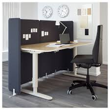 Reception Desks Ireland by Bekant Reception Desk Sit Stand Birch Veneer White 160x80 120 Cm