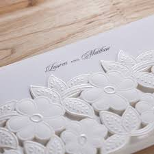 Wedding Invitation Card Diy 100 White Flowers Wedding Invitation Diy Pure White Elegant