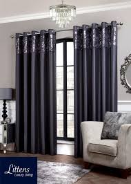 Slate Gray Curtains Slate Grey Sequin Border Ring Top Eyelet Lined Pair Curtains 66 X 54