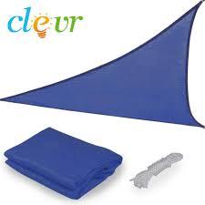 18 ft triangle blue sun shade sail canopy crosslinks