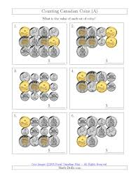 counting canadian coins including 50 cent pieces a