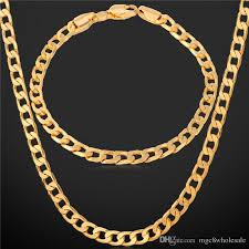 man necklace chain images Gold male necklace u7 gold cuban chain for men with 18k stamp real jpg