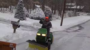 richie u0027s j d 240 snow plowing set up youtube