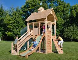 Backyard Swing Sets For Kids by Cedarworks U0027 Eco Friendly Outdoor Playsets Fit Every Space And