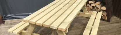 picnic benches decking u0026 wooden work benches buy online uk