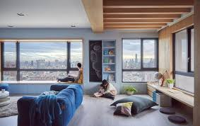 Life In A Studio Apartment by Design U0027s Blue Apartment In Taiwan Balances Family And Social Life