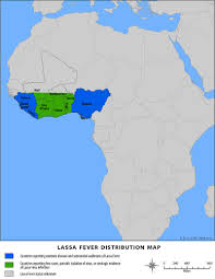 Mali Africa Map by Lassa Fever Cdc