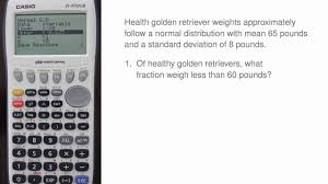 input output tables calculator casio fx 9750gii calculations for the normal distribution youtube