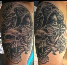 evil monster tattoo designs evil monster face tattoo design for